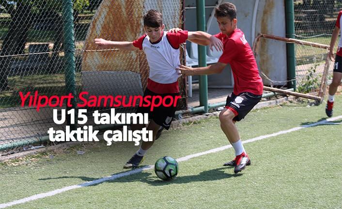 Yılport Samsunspor U15 takımı taktik çalıştı