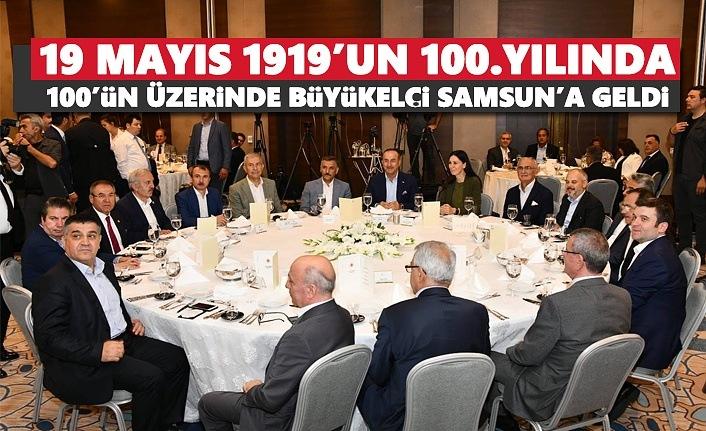 19 Mayıs 1919'un 100.Yılında 100'ün Üzerinde Büyükelçi Samsun'a Geldi