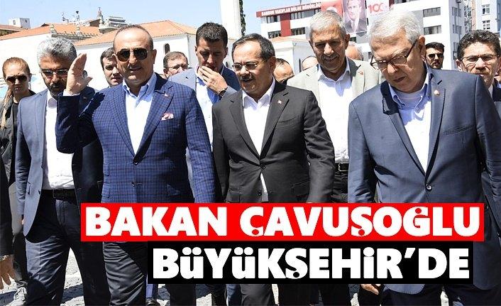 Bakan Mevlüt Çavuşoğlu, Samsun Büyükşehir'de