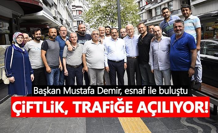 Başkan Mustafa Demir, esnaf ile buluştu