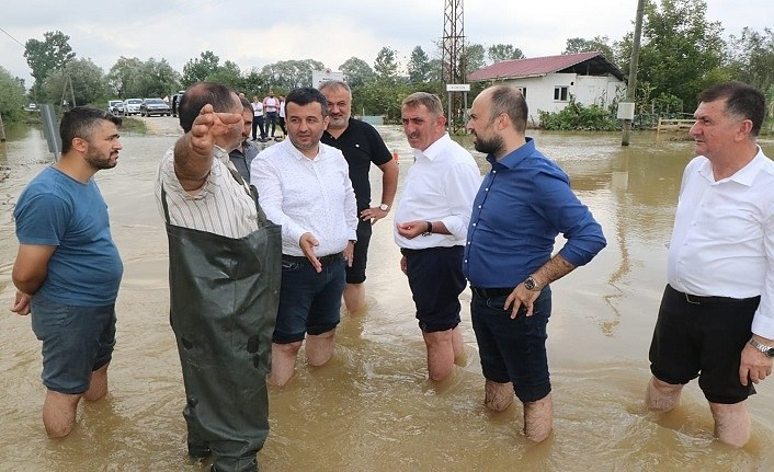 Milletvekili Köktaş, sel bölgesinde