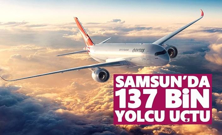 Samsun'da 137 bin yolcu uçtu