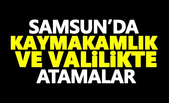 Samsun'da Kaymakamlık ve Valilikte Atamalar