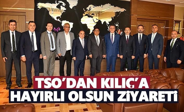 """Samsun TSO yönetiminden, Kılıç'a """"Hayırlı olsun"""" ziyareti"""