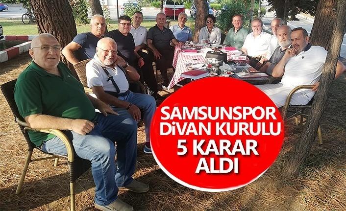 Samsunspor Divan Kurulu toplantısı gerçekleştirildi