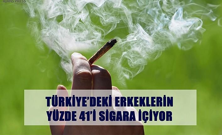 Türkiye'deki Erkeklerin Yüzde 41'i Sigara İçiyor