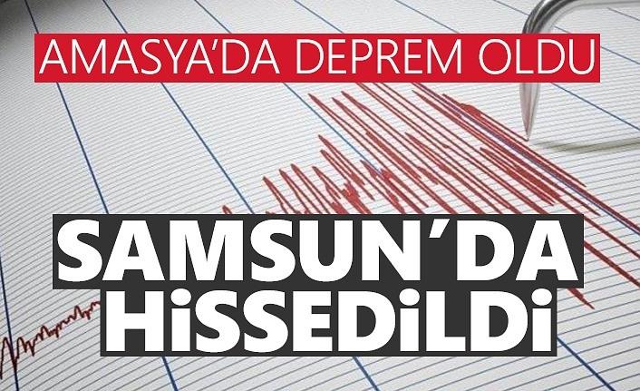 Amasya'da deprem! Samsun'da da hissedildi