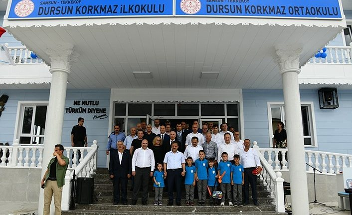 Dursun Korkmaz İlkokulu ve Ortaokulu Tekkeköy'de açıldı