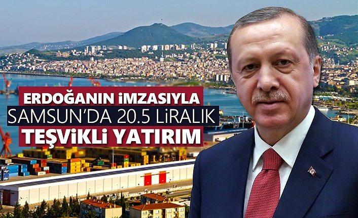 Erdoğan'ın imzasıyla Samsun'da 20.5 milyon liralık teşvikli yatırım