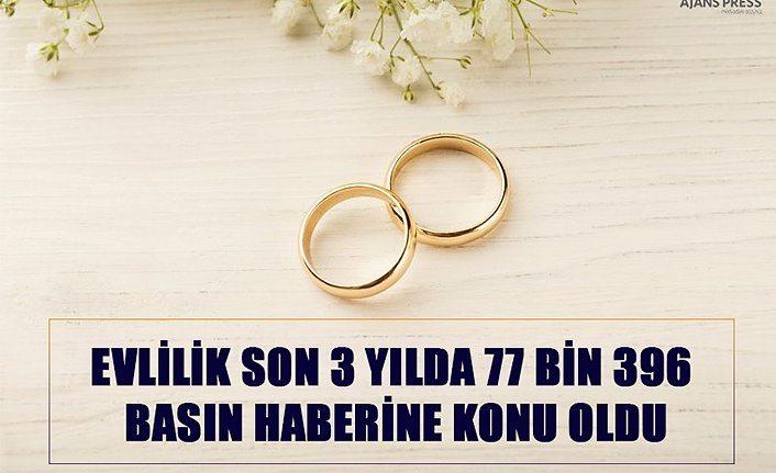 Evlilik Son 3 Yılda 77 Bin 396 Bin Basın haberine konu oldu