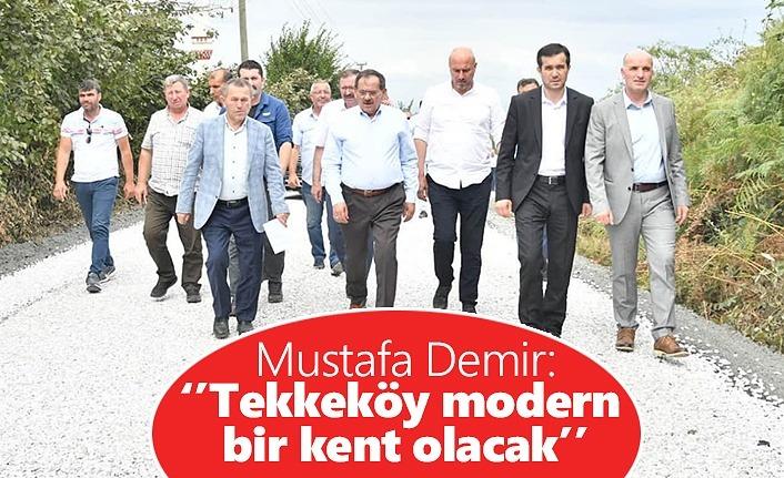 Mustafa Demir'den Tekkeköy'de hizmet seferberliği
