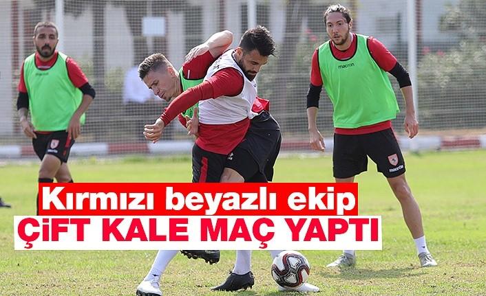 Samsunspor çift kale maç yaptı