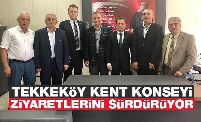 Tekkeköy Kent Konseyi Ziyaretlerini Sürdürüyor