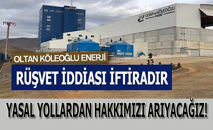 Biyokütle Enerji Santrali'den rüşvet iddiasına açıklama!