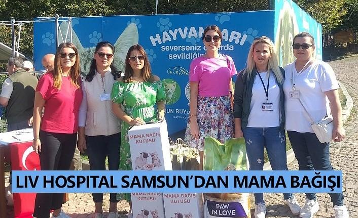 Liv Hospital Samsun'dan mama bağışı