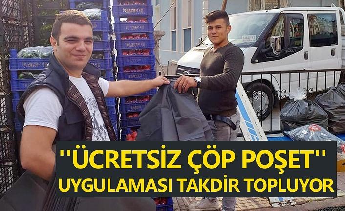 Samsun'da ücretsiz çöp poşeti uygulaması