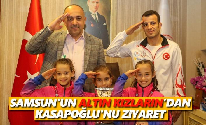 Samsun'un Altın Kızları Müdür Kasapoğlu'nu Ziyaret Etti