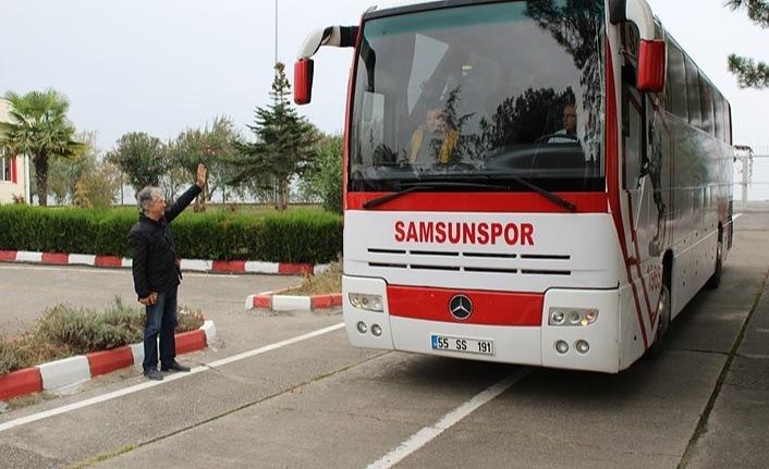 Samsunspor İnegölspor maçı için hareket etti!