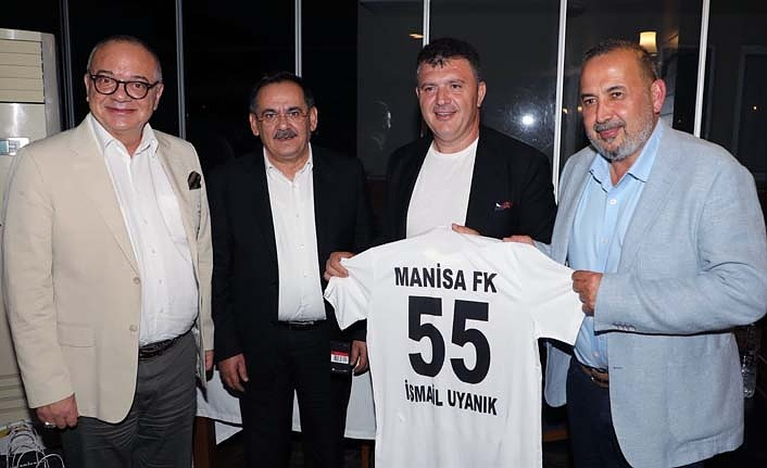 Samsunspor yönetimi Manisaspor yöneticileri ile biraraya geldi