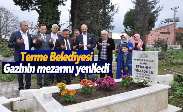 Terme Belediyesi, gazinin mezarını yeniledi
