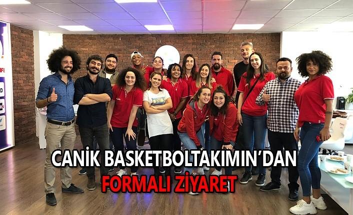 Canik basketbol takımından formalı ziyaret