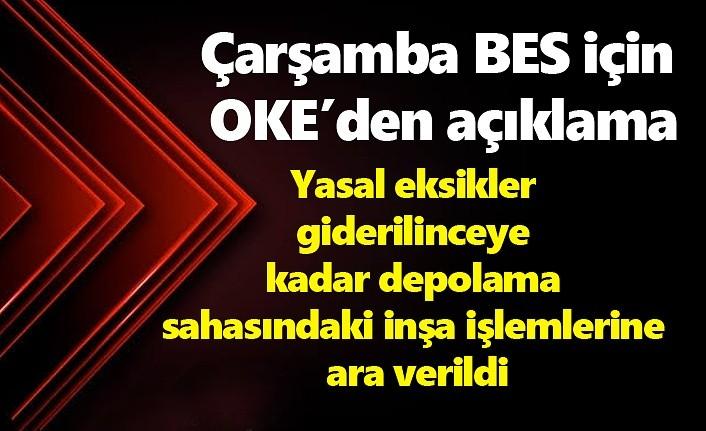Çarşamba BES için OKE'den açıklama: Karara saygılıyız