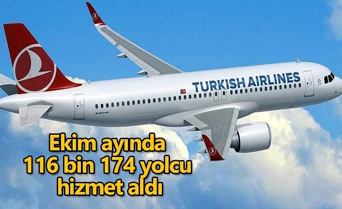 Ekim ayında 116 bin 174 yolcu hizmet aldı