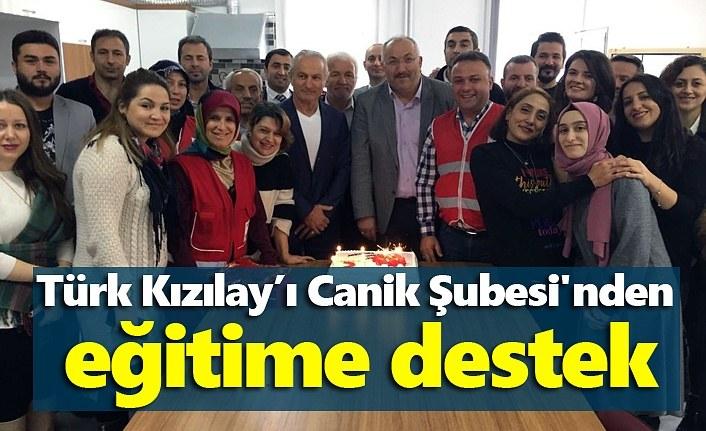 Türk Kızılay'ı Canik Şubesi'nden eğitime destek