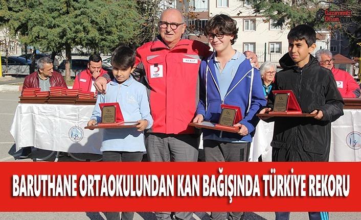Baruthane Ortaokulundan Kan Bağışında Türkiye Rekoru