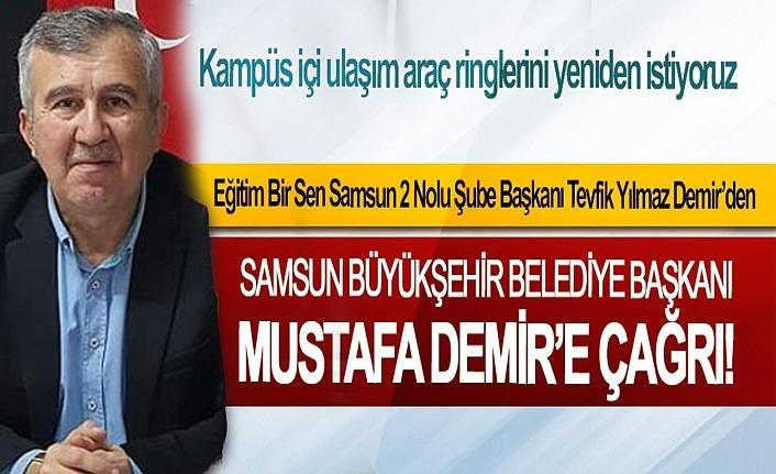 Başkan Demir: Kampüs içi ulaşım araç ringlerini yeniden istiyoruz