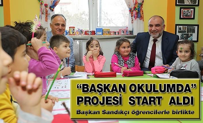 Başkan Sandıkçı öğrencilerle birlikte