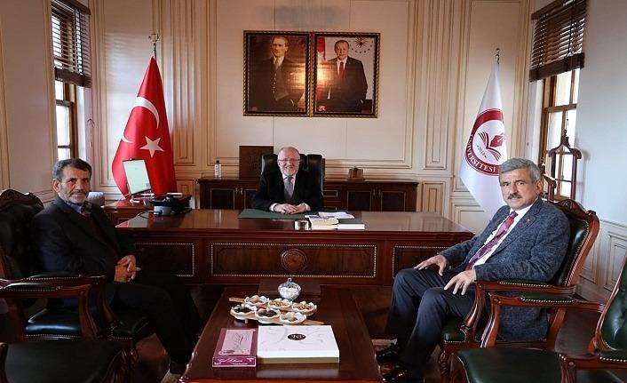 Başkanı Edis'ten Rektör Aydın'a Ziyaret