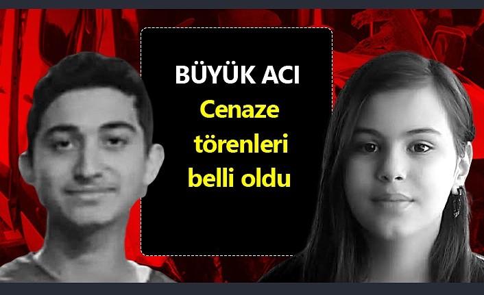 Batuhan Yılmaz ve Zülal Işık Çörtük'ün cenaze törenleri belli oldu