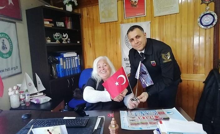 Salıpazarı ilçe Jandarma'dan Sakatlar Derneği'ne ziyaret