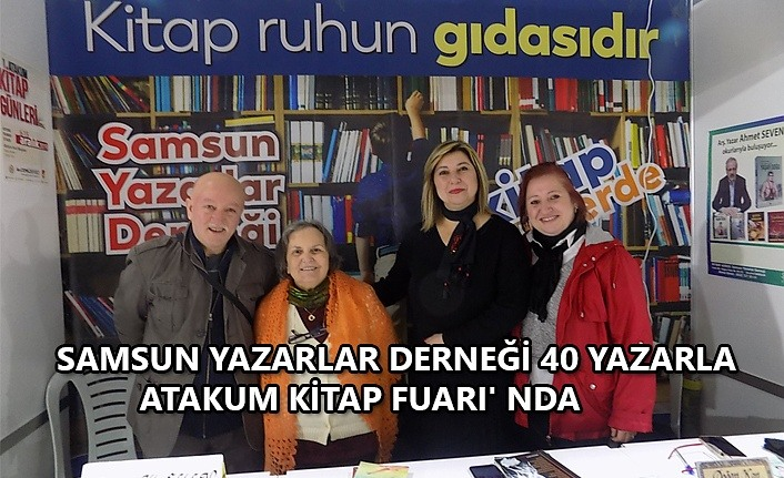 Samsun Yazarlar Derneği 40 yazarla Atakum Kitap Fuarı'nda