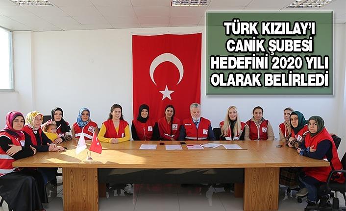 Türk Kızılay'ı Canik Şube Hedefini Belirledi