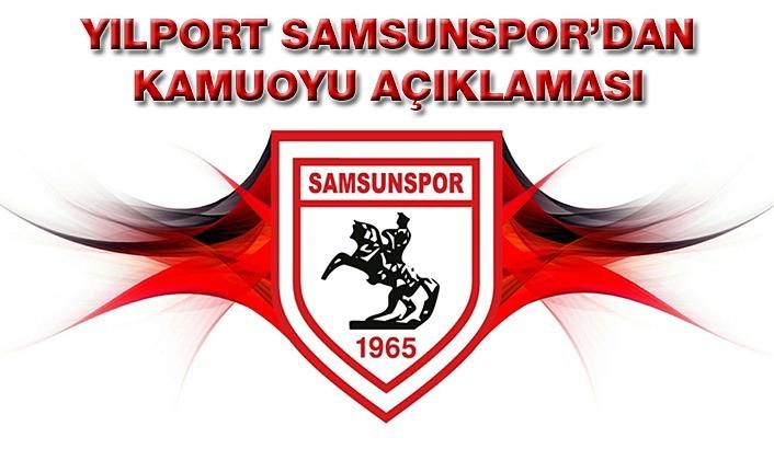 Yılport Samsunspor'dan Kamuoyu Açıklaması