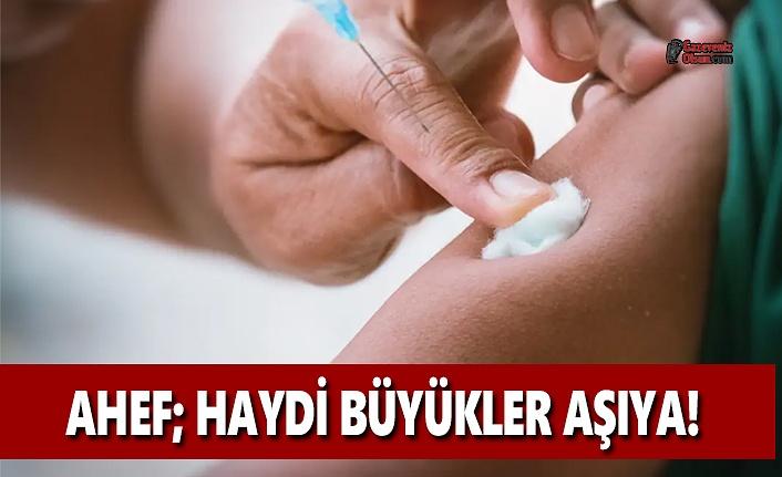 AHEF: Haydi Büyükler Aşıya