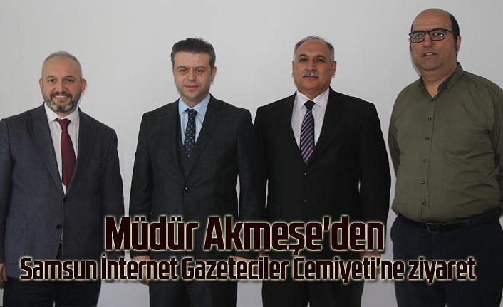 Akmeşe'den Samsun İnternet Gazeteciler Cemiyeti'ne ziyaret