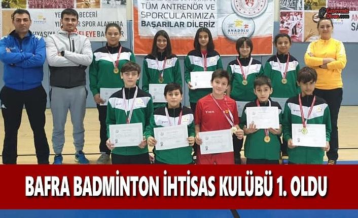 Bafra Badminton İhtisas Kulübü 1. Oldu