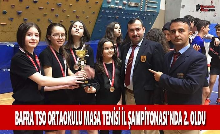 Bafra TSO Ortaokulu İl Şampiyonasında 2. Oldu