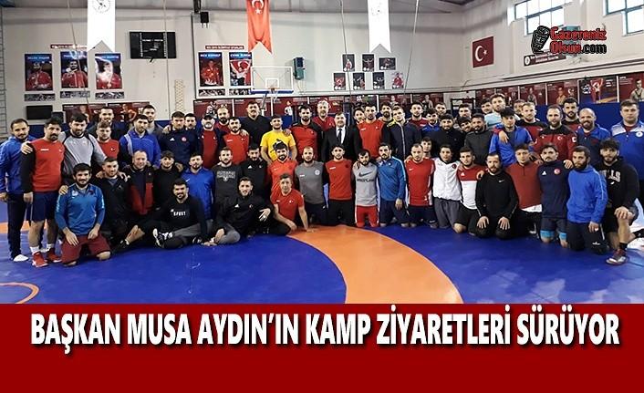 Başkan Musa Aydın'ın Kamp Ziyaretleri Sürüyor