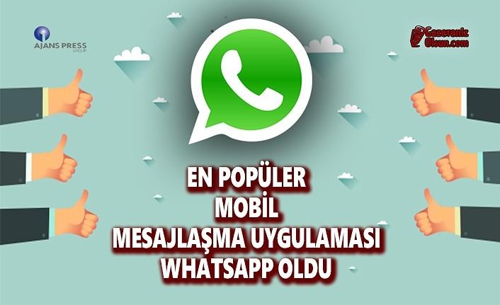 En Popüler Mobil Mesajlaşma Uygulaması Watsapp Oldu
