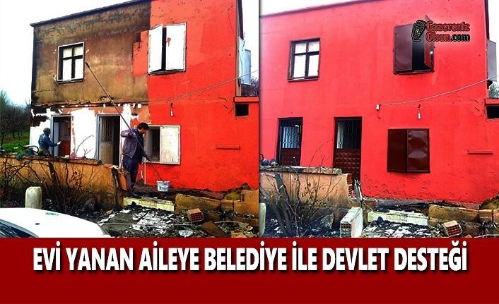 Evi Yanan Aileye Belediye ve Devlet Desteği