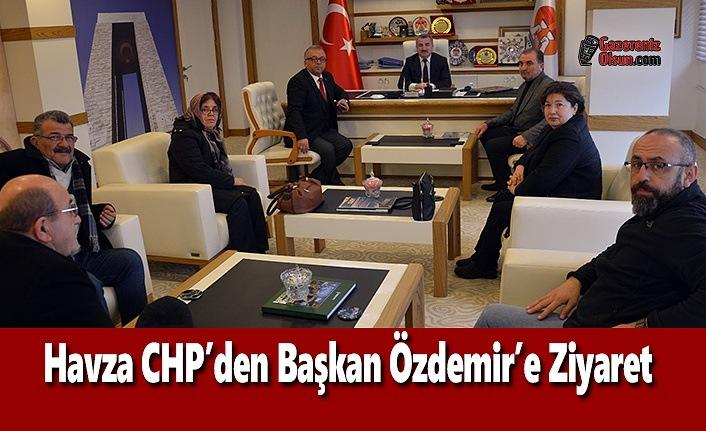 Havza CHP'den Başkan Özdemir'e Ziyaret