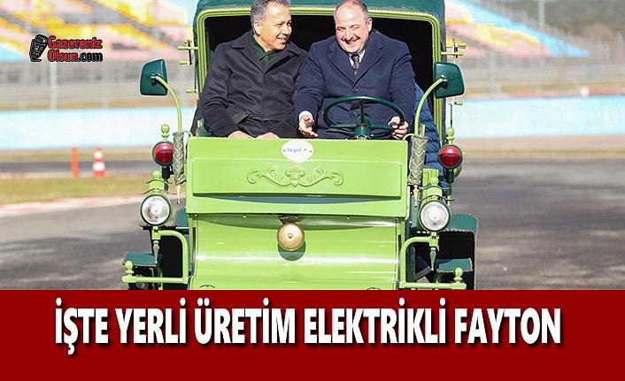 İşte Yerli Üretim Elektrikli Fayton