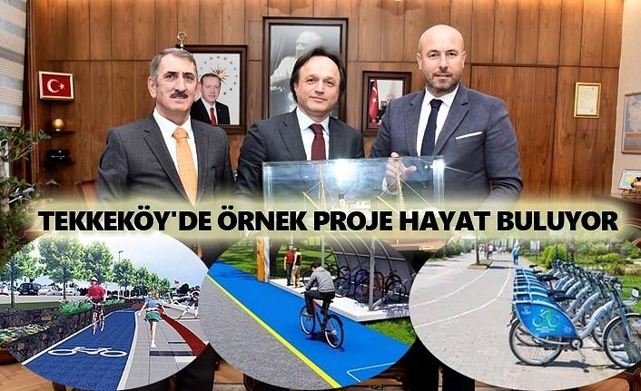 Tekkeköy Belediyesi'nden çevre ve doğaya duyarlı örnek proje