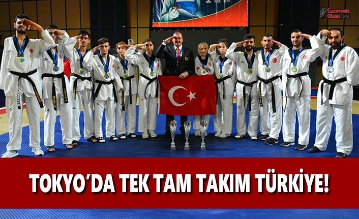 Tokyo'da Tek Tam Takım Türkiye!