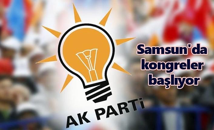 AK Parti Samsun'da kongreler başlıyor