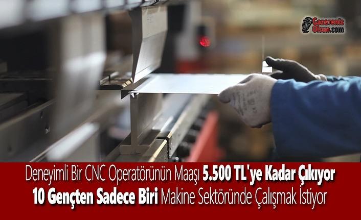 Deneyimli CNC Operatörünün Maaşı 5.500 TL'ye Kadar Çıkıyor
